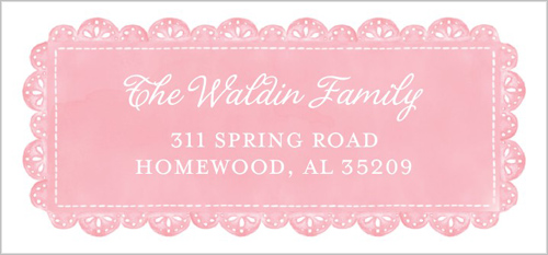 Delicate Lace Girl Address Label