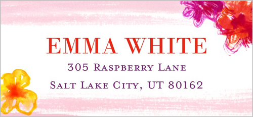 Brushstroke Bride Address Label