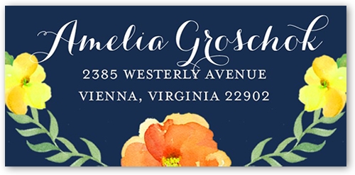Watercolor Blossoms Address Label