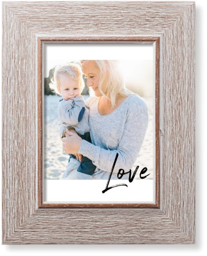 Love Contemporary Art Print, Rustic, Pearl Shimmer Card Stock, 5x7, White