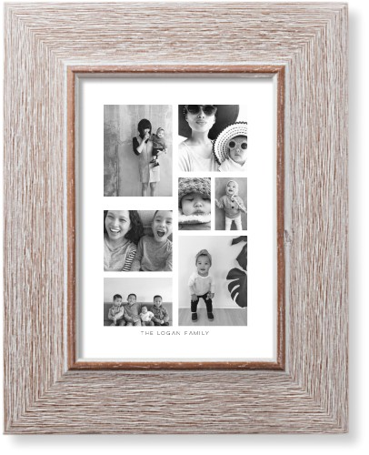 Vertical Gallery Collage of Seven Art Print, Rustic, Pearl Shimmer Card Stock, 5x7, Multicolor