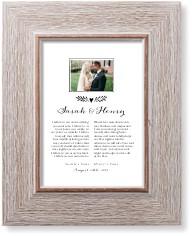 elegant wedding vow collage art print