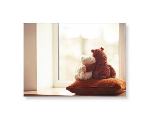 Bear Friends Art Print, None, Pearl Shimmer Card Stock, 5x7, Multicolor
