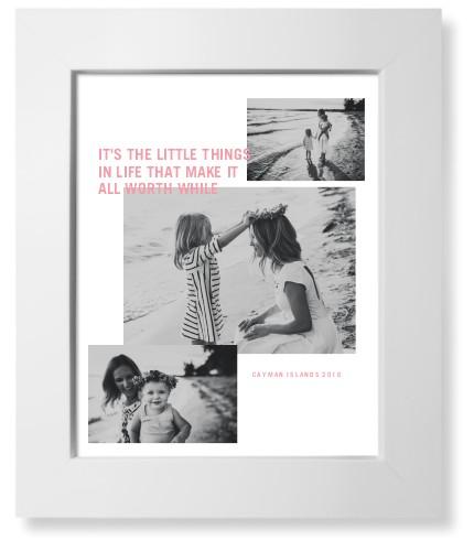 Modern Collage Art Print, White, Pearl Shimmer Card Stock, 8x10, White