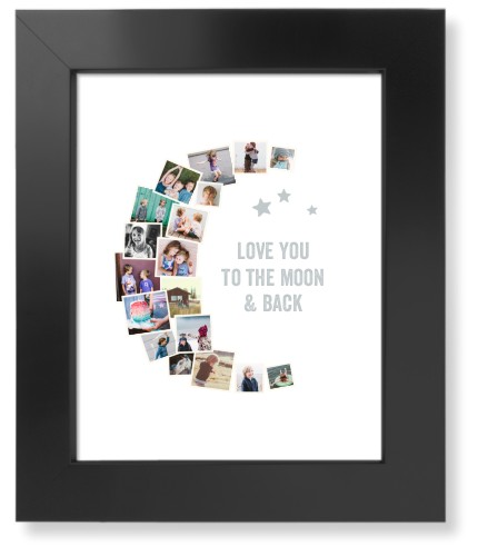 To The Moon Collage Art Print