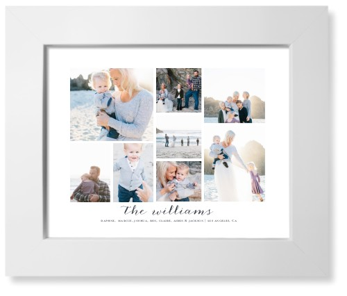 Clean Gallery Collage of Eight Art Print, White, Signature Card Stock, 8x10, Multicolor