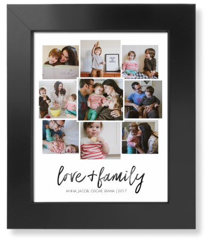 Love and Family Collage Art Print, Black, Signature Card Stock, 8x10, White