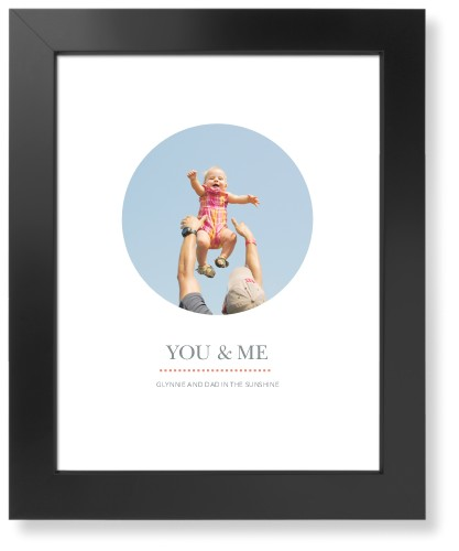 Modern Circle Art Print, Black, Pearl Shimmer Card Stock, 11x14, DynamicColor