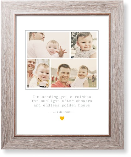 Forever Heart Collage Art Print, Rustic, Signature Card Stock, 11x14, White