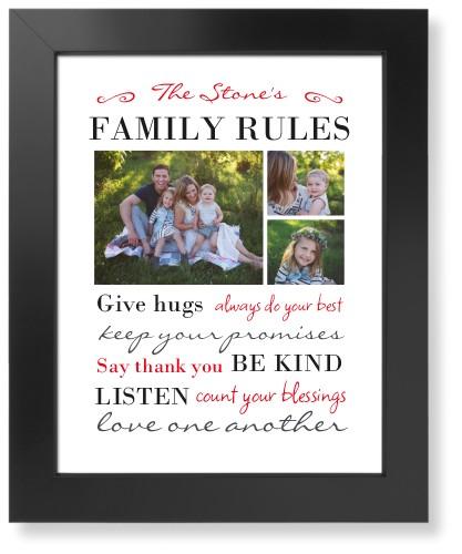 Family Rules Art Print