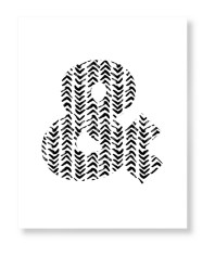 modern arrow print art print