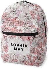 princess floral backpack