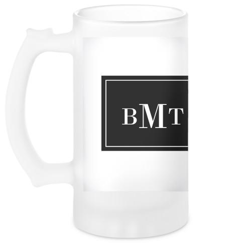 Three Letter Monogram Beer Stein, DynamicColor