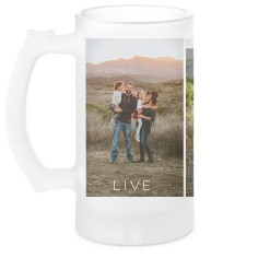 gallery of three glass beer stein