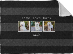 simply chic live love bark fleece photo blanket