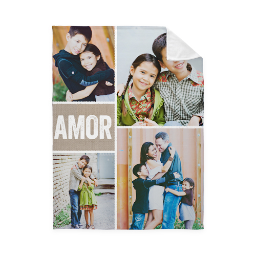 Marcos Con Textura Fleece Photo Blanket, Plush Fleece, 50 x 60, Brown