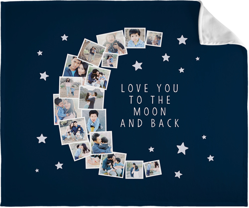 To The Moon Collage Fleece Photo Blankets Shutterfly