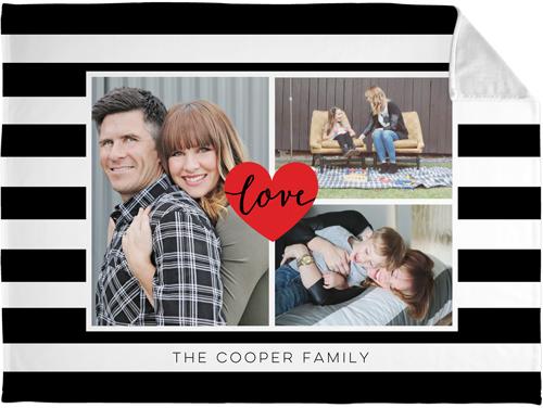 Love Stripes Fleece Photo Blanket
