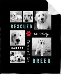 best rescued favorite breed fleece photo blanket