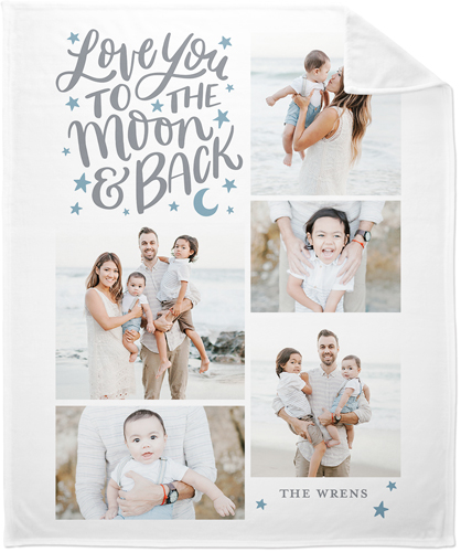 Whimsical To The Moon Fleece Photo Blanket