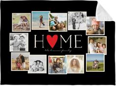 home all around collage fleece photo blanket