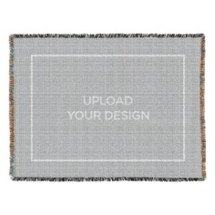 upload your own design woven photo blanket