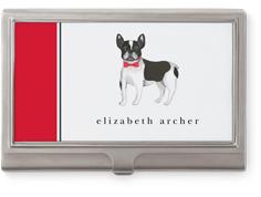 best in show boston terrier business card holder
