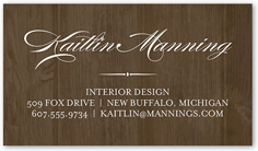refined introduction calling card