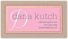 delicate monogram calling card