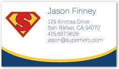 super hero calling card