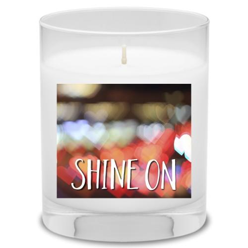 Bokeh Heart Candle, Uncscented, Multicolor