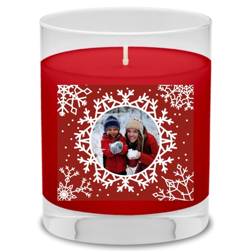 Snowflakes All Around Candle