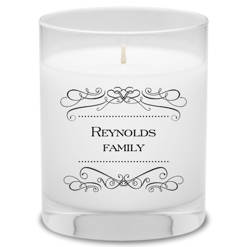 Flourished Family Candle, Garden Bouquet, Black