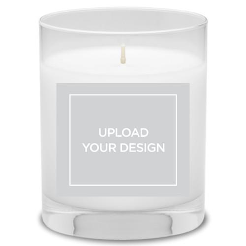 Upload Your Own Design Candle, Garden Bouquet, Multicolor