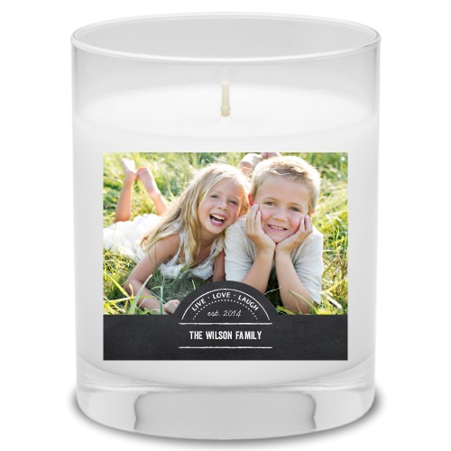 Chalkboard Family Candle