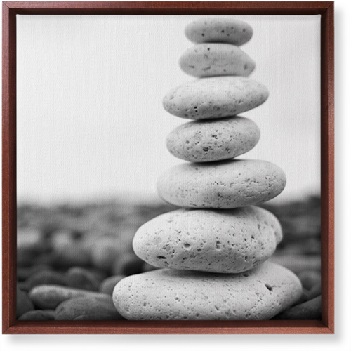 Stacked Rocks Canvas Print, CANVAS_FRAME_BROWN, Single piece, 16 x 16 inches, Multicolor
