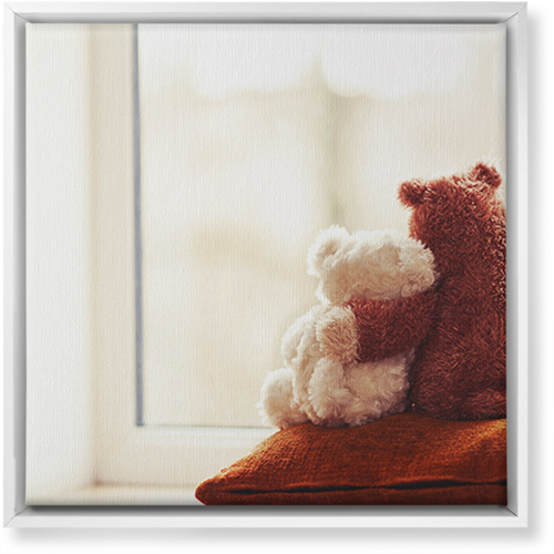 Bear Friends Canvas Print, CANVAS_FRAME_WHITE, Single piece, 16 x 16 inches, Multicolor