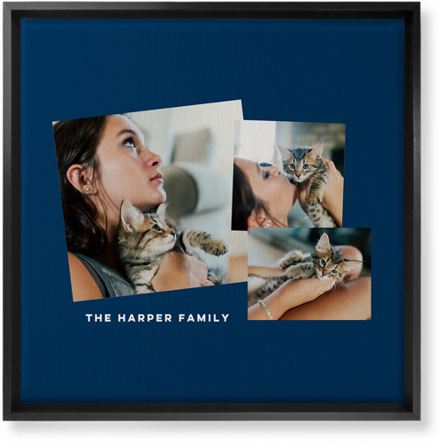 Tilty Gallery of Three Canvas Print, CANVAS_FRAME_BLACK, Single piece, 16 x 16 inches, Multicolor