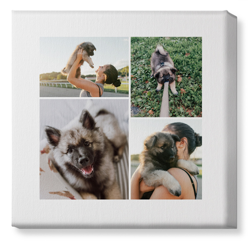 Overlap Photo Gallery of Four Canvas Print