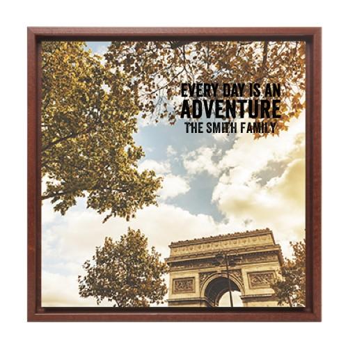 Arc De Triomphe Paris Canvas Print Black