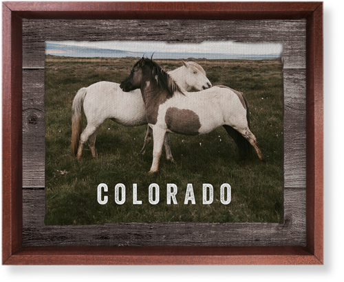 Weathered Wood Frame Horizontal Canvas Print, CANVAS_FRAME_BROWN, Single piece, 8 x 10 inches, ...