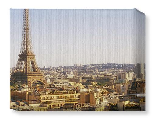 Eiffel Tower Paris Cityscape Canvas Print