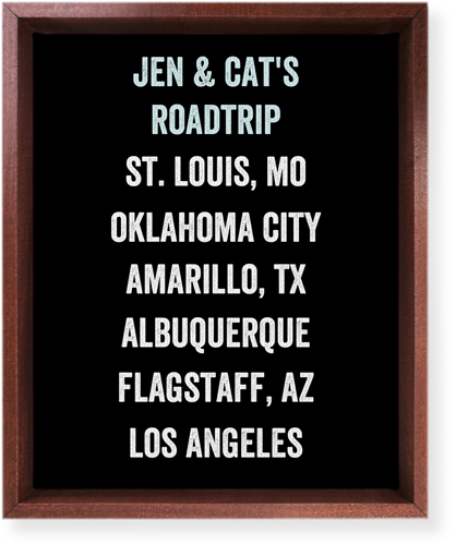 Our Travels Canvas Print, CANVAS_FRAME_BROWN, Single piece, 8 x 10 inches, Black