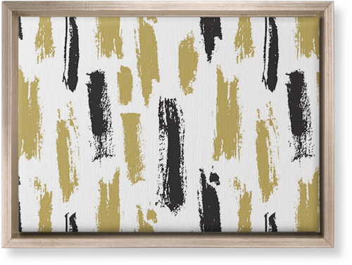 Brushstroke Lines Canvas Print, CANVAS_FRAME_METALLIC, Single piece, 10 x 14 inches, Multicolor