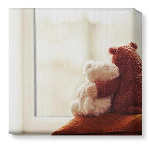 Bear Friends Canvas Print, None, Single piece, 12 x 12 inches, Multicolor