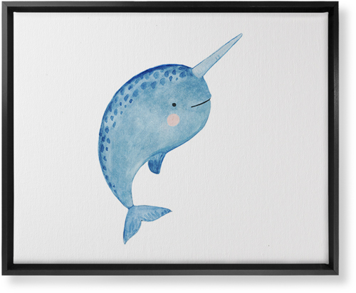 Narwhal Watercolor Canvas Print