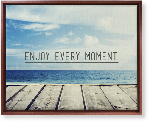 Enjoy Every Moment Canvas Print, CANVAS_FRAME_BROWN, Single piece, 16 x 20 inches, Black