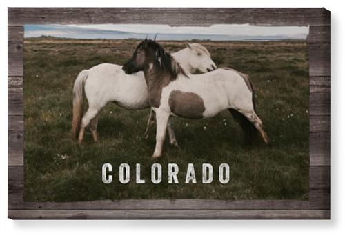 Weathered Wood Frame Horizontal Canvas Print