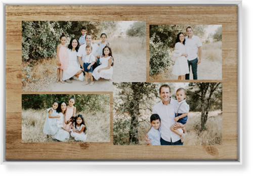 Rustic Collage Canvas Print, White, Single piece, 24 x 36 inches, Brown