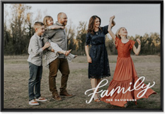family letters wall art